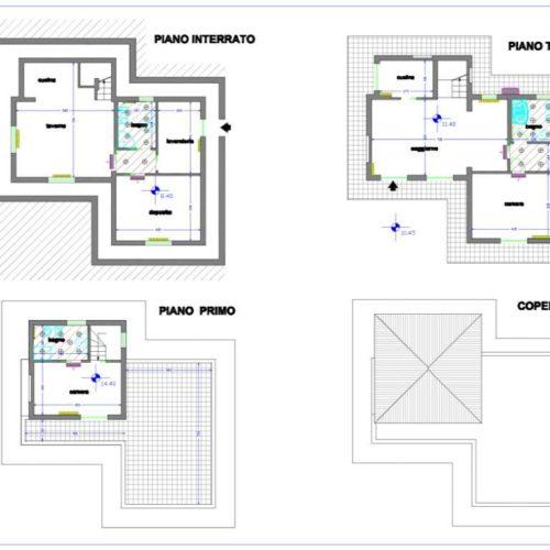 planimetria villa 4b