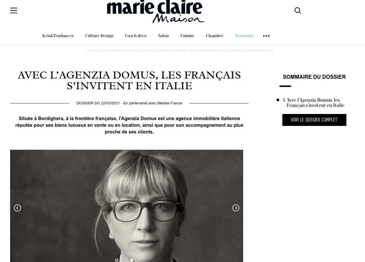 Agenzia Domus su Marie Claire